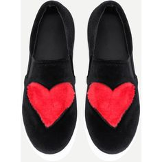 Heart Pattern Velvet Sneakers (€30) ❤ liked on Polyvore featuring shoes, sneakers, velvet sneakers and velvet shoes