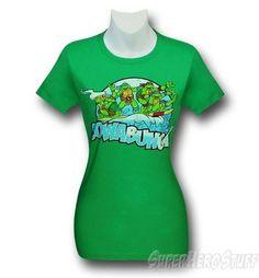 TMNT Cowabunga Green Women's T-Shirt