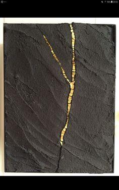 New Ideas Painting Art Ideas Abstract Gold Leaf Gold Leaf Art, Gold Art, Home Decor Wall Art, Art Decor, Concrete Art, Concrete Sculpture, Kintsugi, Diy Arts And Crafts, Mosaic Art