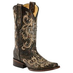 Corral  Women's Studded Cross Western Boots