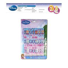 Disney Frozen kleurpotloden. Een compleet potlodensetje van de Disneyfilm Frozen, dat bestaat uit 16 verschillende kleuren.