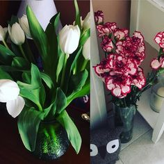 Remember to celebrate life and love with little surprises.  My loving hubby brought me home a romantic surprise today! Some of my favourite white #tulips and these others lovely #flowers.  And yes men can like flowers too! #menlikeflowers