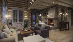 Дизайн интерьера дома в п.Зеленое: Гостиная в . Автор - MJMarchdesign