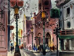 Chinatown, c. 1940s – California Watercolor