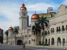 View Of Sultan Abdul Samad Building - I'll be going to Malaysia in April and hope to see these beautiful buildings!