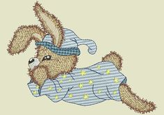 Realistic Bunnies Machine Embroidery Designs by BettysOriginalEmb