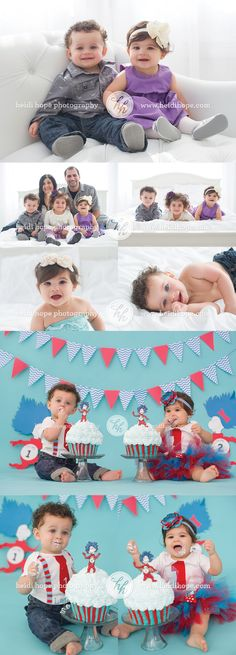 Happy First Birthday, L and L! | Heidi Hope Photography Twins Thing One and Thing Two