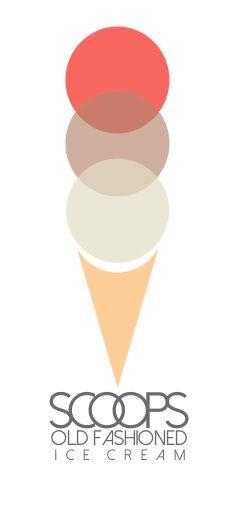 Scoops Old Fashioned Ice Cream (logo) - I enjoyed creating this one tremedously!