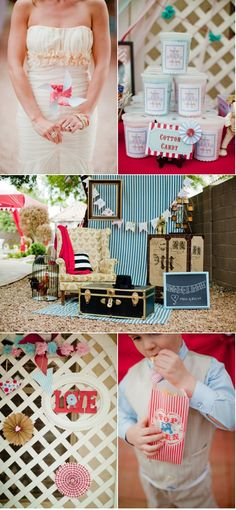 whimsical carnival wedding...love it.
