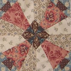 "Pennsylvania  http://passionpatchwork.wordpress.com  block in ""1865, passion sampler"" quilt"
