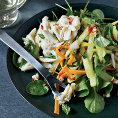 Thai Crab-and-Green-Mango Salad | These Thai recipes recreate your favorite dishes right at home, including pad thai, pad see yew and chicken curry.