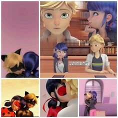 Catnoir And Ladybug, Kitten Cartoon, Miraculous Ladybug Anime, Marinette And Adrien, Ladybug Comics, Cute Disney, Cute Funny Animals, Disney Wallpaper, Anime Shows