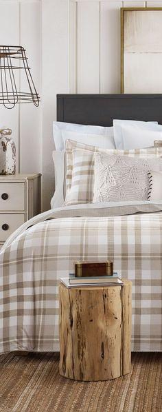 Tommy Hilfiger Range Plaid Comforter Set Country Bedding Sets, Western Bedding Sets, Rustic Bedding, Plaid Comforter, Comforter Sets, Log Home Decorating, Decorating Ideas, Decor Ideas, Neutral Bed Linen