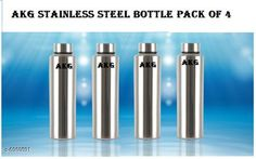 Checkout this latest Water Bottles Product Name: *AKG Stainless Steel Fridge Water Bottle* Material: Stainless Steel Pack: Multipack Size (in ltrs): 1 L Size: Free Size Country of Origin: India Easy Returns Available In Case Of Any Issue   Catalog Rating: ★4.1 (1877)  Catalog Name: AKG Stainless Steel Fridge Water Bottle CatalogID_1111603 C130-SC1644 Code: 886-6960591-0081