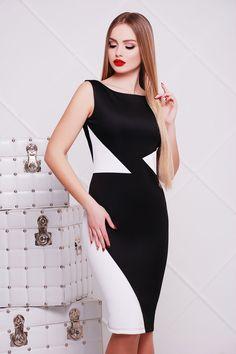 b076a700eef Цвет  принт. Еще. Красивое женское платье комбинированное белое с черным  День и ночь платье Лоя-2 б