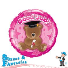 Good Job Bear Pink. http://suenosyfantasias.com/celebraciones/graduacion.html
