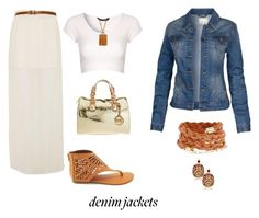 Demonstrate Your Denim Jacket Style by buzzbee-585 on Polyvore featuring polyvore, fashion, style, Jane Norman, Fat Face, A|Wear, Charlotte Russe, MICHAEL Michael Kors, ADA Collection, Kenneth Jay Lane, Roberto Cavalli and clothing