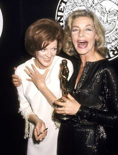 Maggie Smith & Lauren Bacall at The Academy Awards