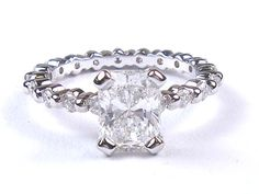 14ky white gold diamond engagement ring by VonHoch on Etsy