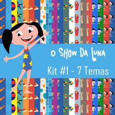 o show da luna kit #003 - scrapbook digital temas piscina e praia e brinde sergio roberto arts