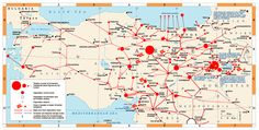 Armenian Genocide Map // the locations genocidal activities against Armenians took place.
