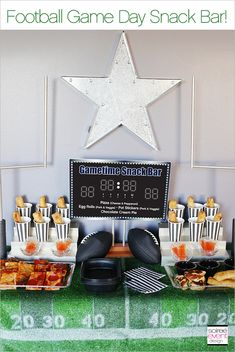 How to Set Up a Football Game Day Snack Bar! #GameDayPizza #ad