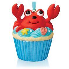 A Little Crab Cake Keepsake Cupcake Ornament