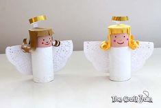 Como hacer un angel de Navidadcon rollos de carton