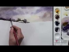 How to draw the snowy landscape by Um KyungHo - YouTube