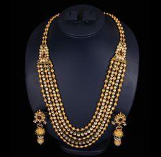 Antique Beads Kundan Mala