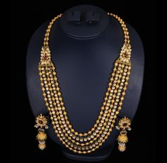 Antique Beads Kundan Mala