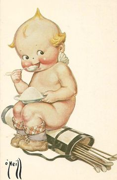 Image detail for -Rose O'Neill Golfing Kewpie vintage postcard 1976 - Ad 339851 . Graffiti, Retro Pop, Vintage Cards, Vintage Golf, Cute Illustration, Vintage Pictures, Miniature Dolls, Vintage Children, Vintage Postcards
