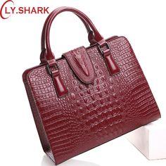 5b5e20d75e23 Tinyffa большие сумки женские через плечо сумка женская натуральная кожа  Крокодиловая кожаные сумки сумки женщины известные