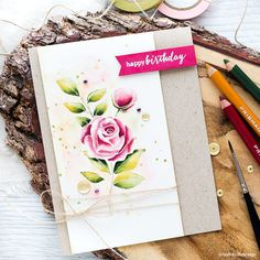 Pencil shaded watercolor video tutorial. Find out more about this card by clicking on the following link: http://limedoodledesign.com/2016/09/video-pencil-shaded-watercolor/