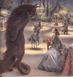 Beauty and the Beast art by Angela Barrett On the other hand, some artists renditions of the Beast just freak me out.