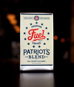 Fuel Coffee packaging, designed by Commoner Inc.