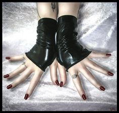 Hey, I found this really awesome Etsy listing at https://www.etsy.com/listing/58268429/sanguine-speakeasy-wet-look-fingerless