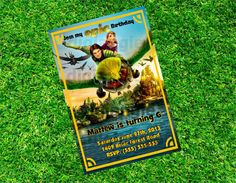 Personalized Bluesky's Epic Movie Birthday Party Invitation Digital File