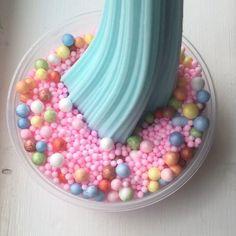 Baby blue crunchy slime