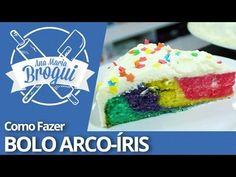 Ana Maria Brogui # 93 - Como fazer Bolo Arco-íris - YouTube