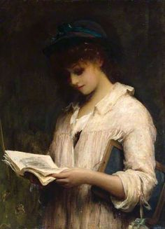 """A Schoolgirl"", 1887. Luke Fildes (1843–1927), British painter. Collection: Royal Academy of Arts."