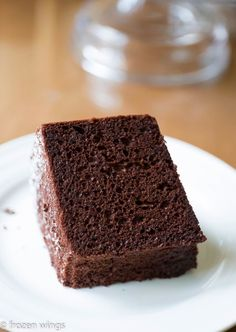 frozen wings: Japanese Dark Pearl Chocolate Chiffon Cake - round up event for chiffon cake