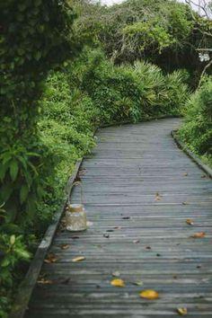 des planches  pour l'allée de jardin