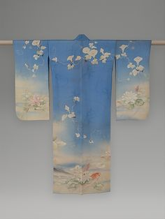 Summer Kimono with Carp, Water Lilies, and Morning Glories, ca. 1876. Japan. Meiji period (1868–1912). The Metropolitan Museum of Art, New York. Gift of Naoki Nomura, 2006 (2006.73.2)