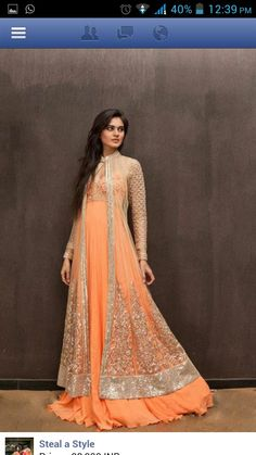 Anarkali gown Indian Bridal Fashion 10112370339