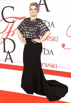 Kelly Osbourne stepped out in a long, sweeping skirt, teamed with a disco-ball top.