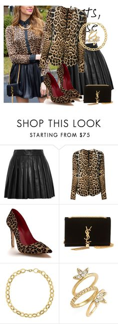 """""""553. Pleats"""" by slovak-queen1997 ❤ liked on Polyvore featuring Alice + Olivia, Yves Saint Laurent, Shoes of Prey, Laundry by Shelli Segal and Luv Aj"""