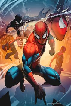 Image of Marvel Spider-man Marvel Spiderman Comic Book Characters, Comic Book Heroes, Marvel Characters, Comic Character, Comic Books Art, Comic Art, Amazing Spiderman, Spiderman Art, Spiderman Poses
