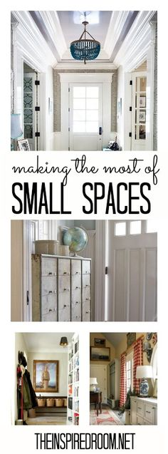 Great inspiration for making the best use of small spaces!