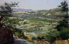 Take the High Road by David Savellano Watercolor ~ 12 x 18